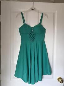 Green Waterfall Dress - Size 8