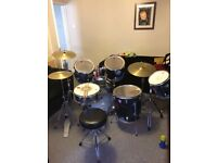 Full drum kit ready to play