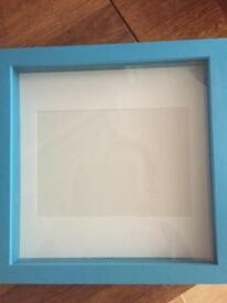 Blue boxed frame