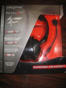 Creative Fatal1ty Gaming Headset / Headphones. Boom Mic. For Computer /Game system / Desktop / Laptop. Audio. Sound. NEW