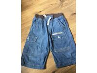 Boys denim shorts age 11