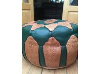 Foot Stool Traditional Moroccan leather Pouffe.