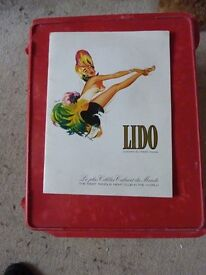 Rare? Collectible old Brochure LIDO Champs Elysees Paris The Most Famous Night Club in the World