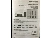 Panasonic Blu-ray home theatre system SC-BT205