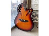 Ovation 2758AX Elite Standard 12-String Electro-Acoustic Guitar (New England Burst)