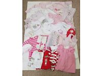 0-3 Months Girls Bundle Of Baby Clothes