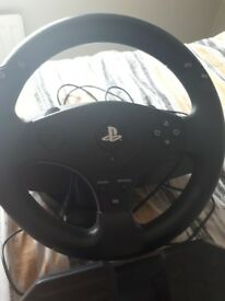 Ps4 Thrusmaster steering wheel never used so good as new.