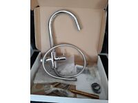 Kitchen pull down mixer tap. New boxed. All parts in box. Cost £139 sell £69