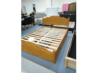 Brand New Solid Pine King Size Bed Frame With 4 Drawers. Already Built & Can Deliver.Retails At £599