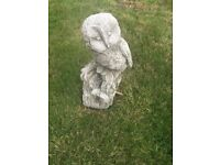 GARDEN ORNAMENT OWL STONE WELL BELOW PURCHASE PRICE