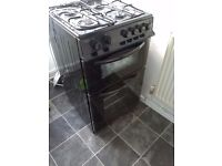 New Bush Double Gas Cooker- Black for sale.