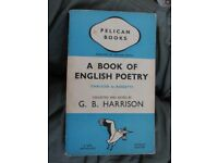 Pelican book - A book of English Poetry - 1938