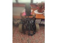 Electric golf trolley with battery and charger
