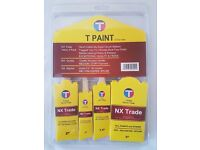 Value 4 Pack Paint Brushes - NX Trade Brush