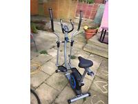 Excellent condition pro fitness cross trainer - removable seat with pulse and heart rate