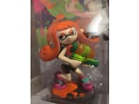 Nintendo Splatoon Boy & Girl Amiibo Characters in mint condition for sale half the retail price