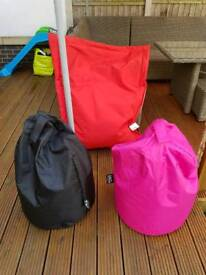 Bean bags red and blacks ones only