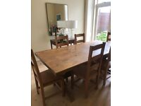 High Quality Trestle Dining Room Table with 8 Chairs
