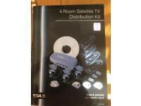 4 Room Satellite TV Distribution Kit