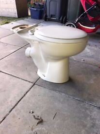 Green Toilet & Sink - Used Condition