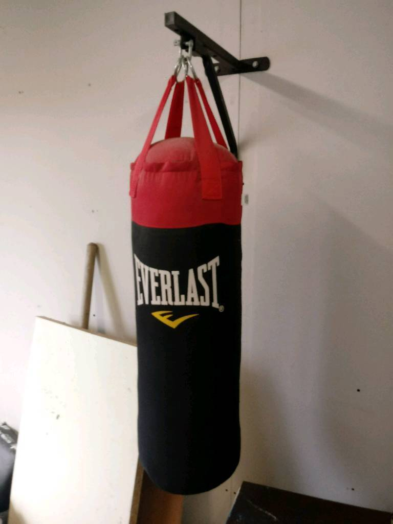 Everlast punch bag and bracket