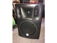 Two PA Speakers, Like New for sale. Brand: the box PA 302 A