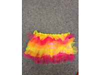 Claires Accesorys Bright Multi Coloured Fancy Dress Skirt Size Small-Medium