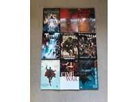 9 Marvel and DC comic books including Batman, Superman, Thor, Iron Man