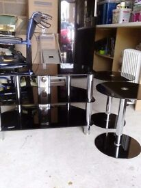 TV table and 2 side tables