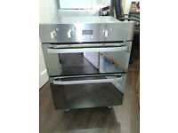 HOTPOINT UHS53XS Electric Built-under Double Oven - Stainless Steel