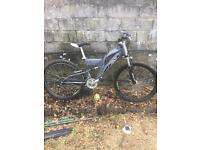 Stealth raptor suspension mountain bike 21 speed