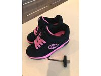 Heelys pink and black only worn in house uk 13