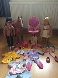 Our Generation Dolls, Hairdressing chair and Horse