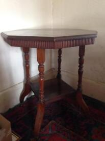 Antique Edwardian hexagonal table