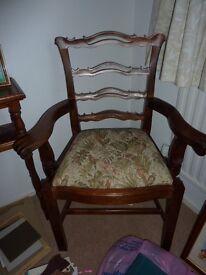 Mahogony bedroom chairs