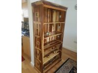 Indian wood display unit/bookcase