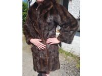 Ladies 3/4 lenght fur coat