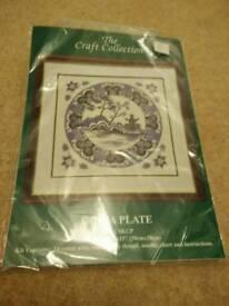 Cross stitch kit china plate