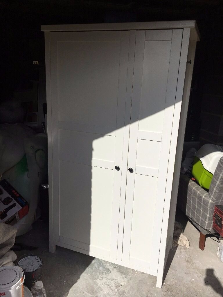Ikea Hemnes Wardrobe White 2 Doors 1 Side Hanging Other