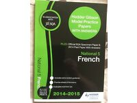 SQA National 5 French Past Papers Book, like new