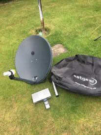 Satgear satellite dish and receiver for caravan