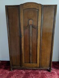 Imposing Art Deco wardrobe