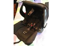 Car seat with two iso fix / isofix bases