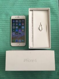 iPhone 6(16GB|O2 GiffGaff Tesco|Deliver+Post|Apple|Silver)