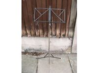 Black Music Stand made of metal