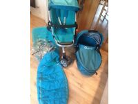 Quinny Buzz pushchair and carrycot