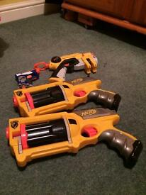 4 Nerf Guns