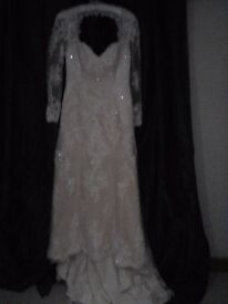 couture blush dress size 14