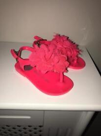 Pink size 4 river island sandal