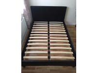 Faux leather , Dark Brown, Double Bed Frame For Sale!